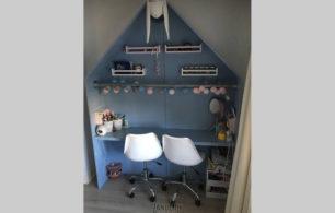 Houten Kinder Speelhuisje Bureau