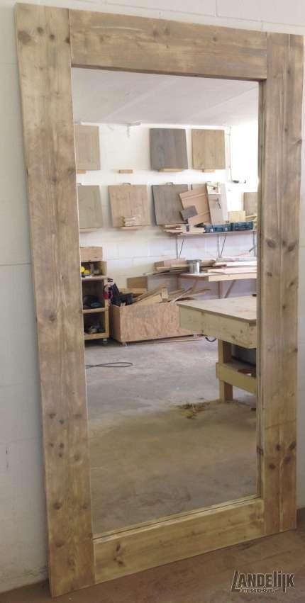 Grote Steigerhouten Spiegel