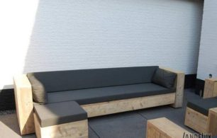 Steigerhouten Loungebank Relax
