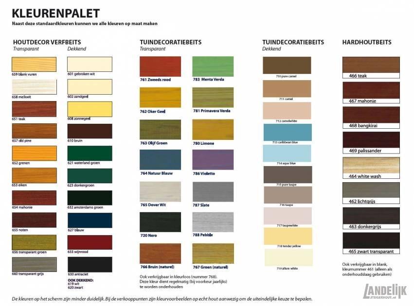 kleurenpalet steigerhouten meubelen