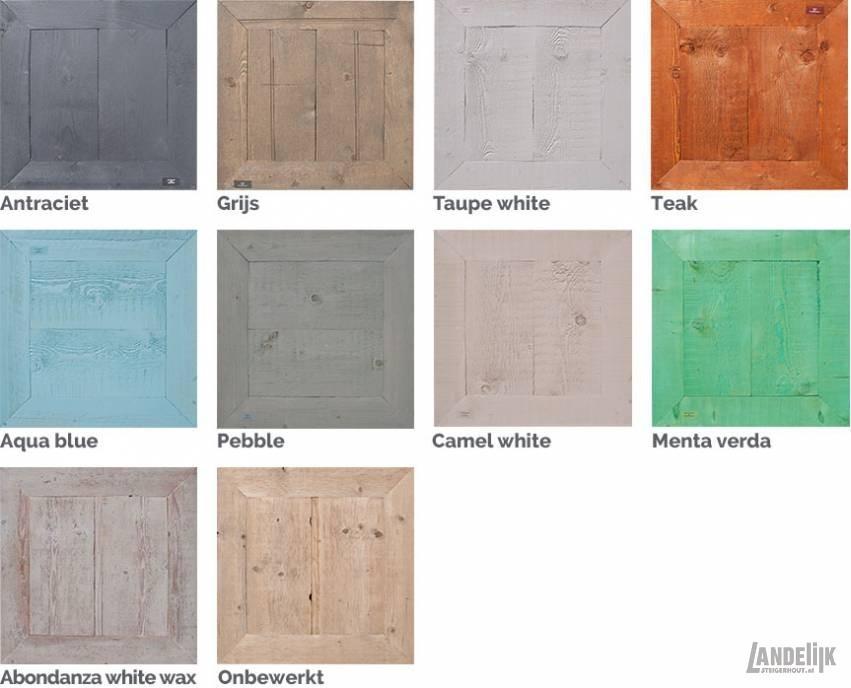 Steigerhout kleuren