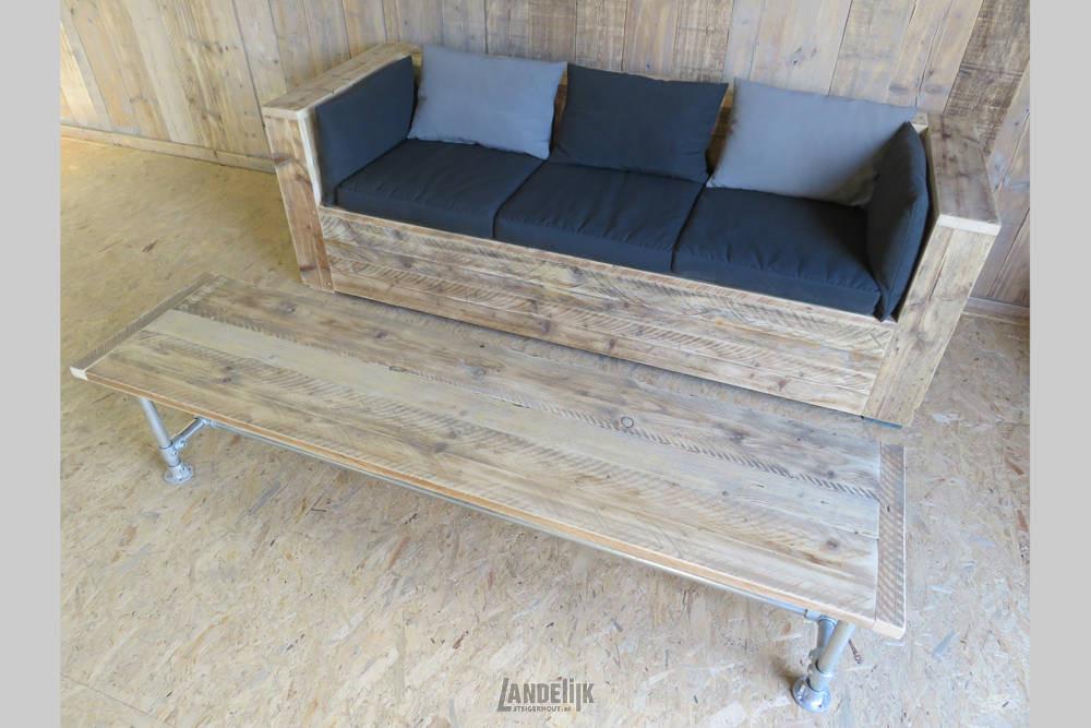 Steigerhouten Lounge Bank